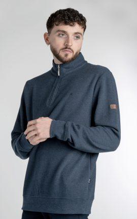 Mineral Kentucky Indigo Half Zip Sweater