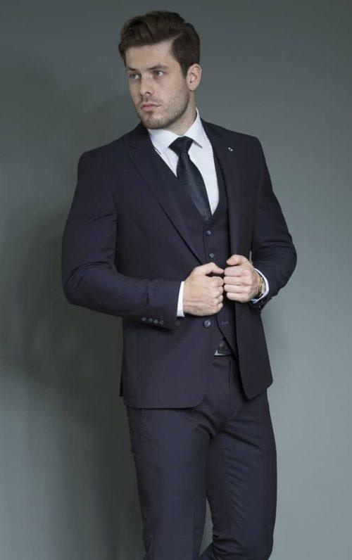 White Label Navy Suit