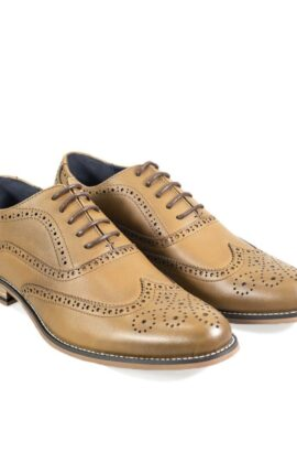 Cavani Oxford Tan Brogue Shoe
