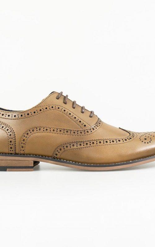 Cavani Oxford Tan Brogue Shoe 2021