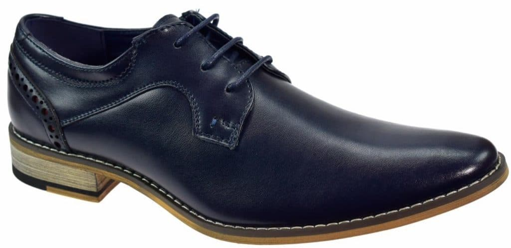 Cavani Navy leather shoe