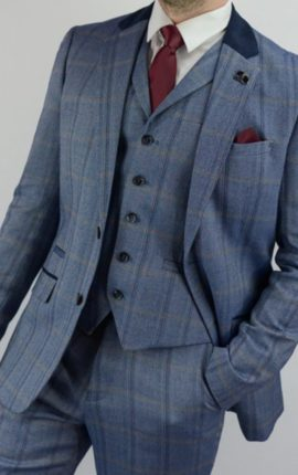 Cavani Connall Suit Blue