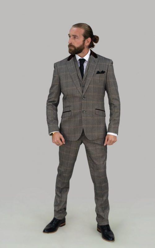 Cavani Connall Suit Brown