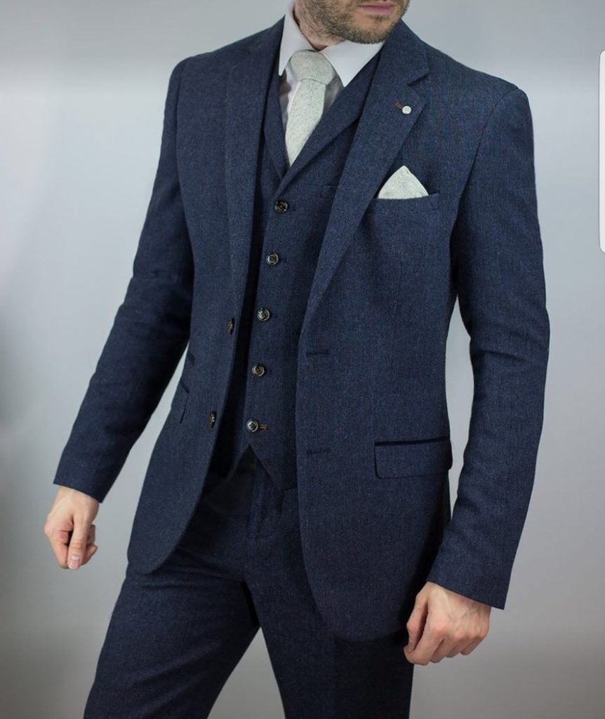 Cavani Martez Three Piece Suit Navy