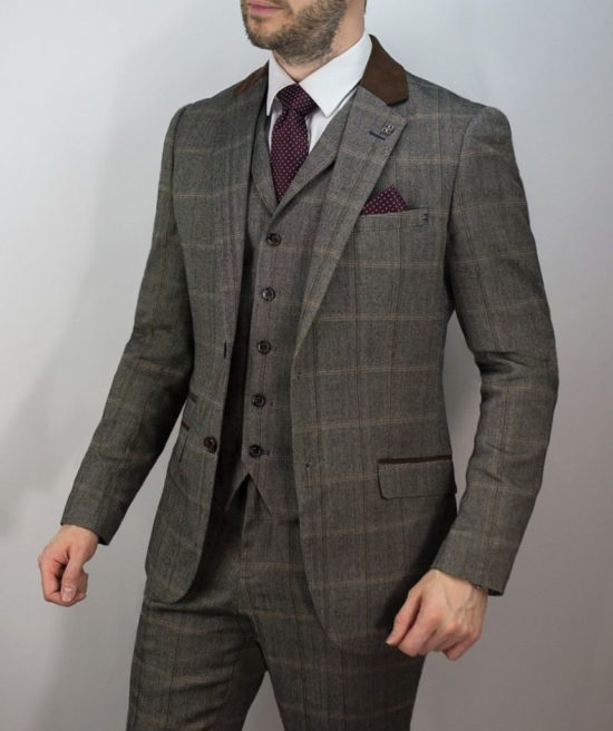 Cavani Connall Suit Brown