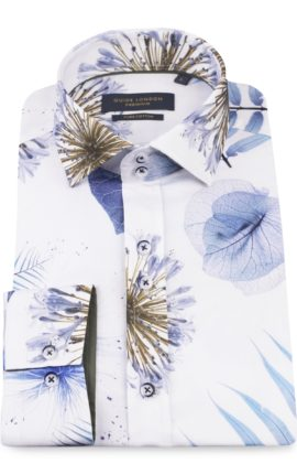 Guide London Bold Spaced Leaf Print Shirt