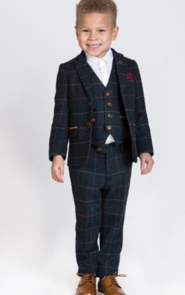 Marc Darcy Kids 3 Piece Suit Eton