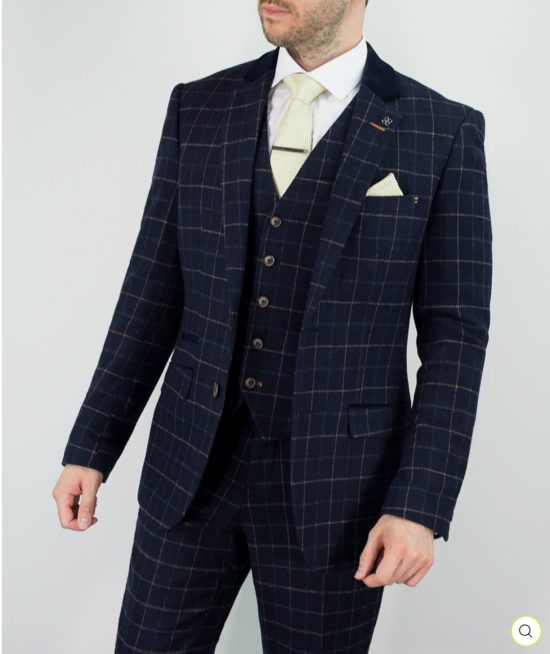 Cavani Suit Navy Shelby