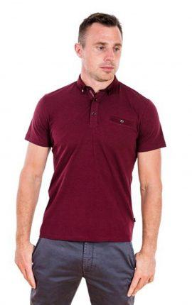 XV Kings Clemson Polo Shirt Burgundy