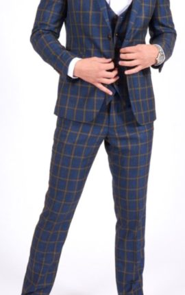 Marc Darcy Roman Check Suit