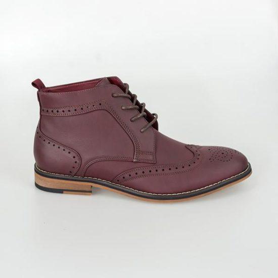 Cavani Wine Brogue Boots