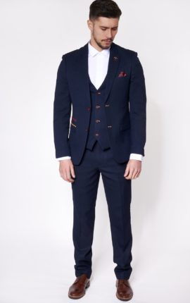 Marc Darcy 3 Piece Suit JD4 Navy