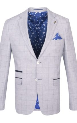 Fratelli Uniti Grey Checked Jacket