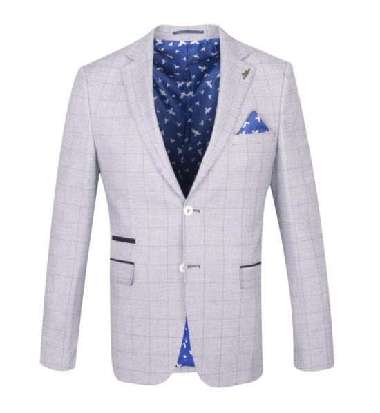 Fratelli Uniti Grey Checked Jacket