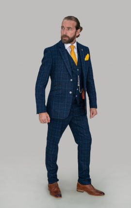 Cavani Suit Cody Blue Check