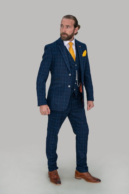 Cavani Suit Cody Blue Check