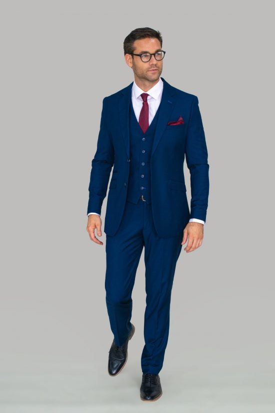 Cavani Jefferson Three Piece Suit Navy