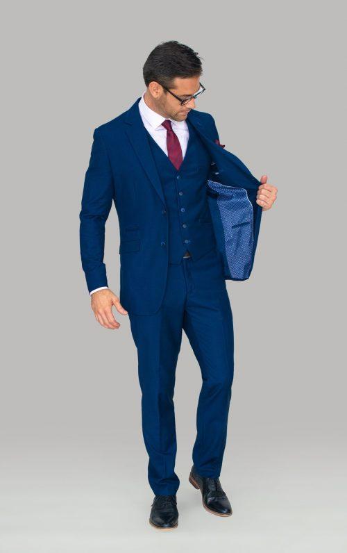 Cavani Jefferson Three Piece Suit Navy 2021