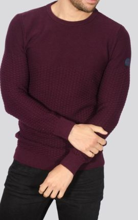Alpha Burgundy Crew Neck Jumper