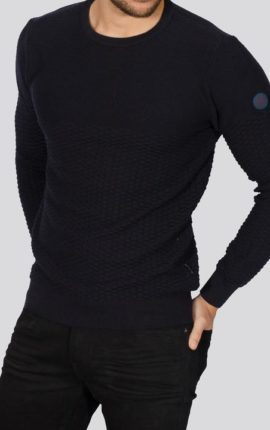 Alpha Navy Crew Neck Jumper