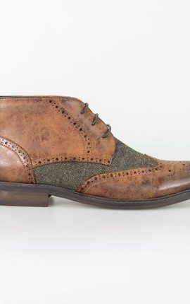Cavani Curtis Tan Lace Up Boots