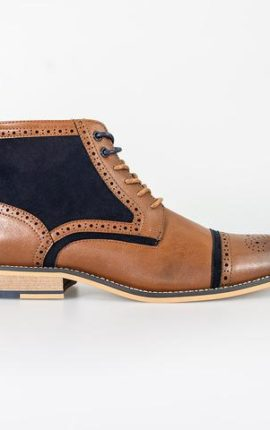 Cavani Modena Tan Lace Up Boots
