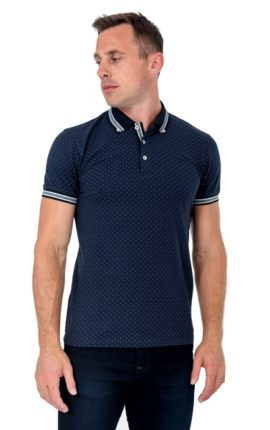 XV Kings Briars Blue Dot Polo Shirt