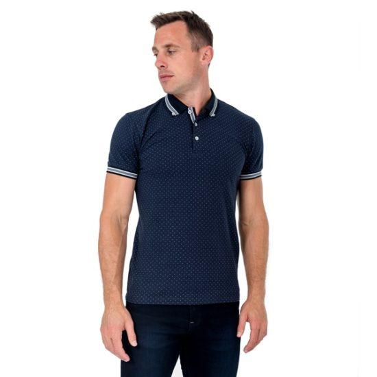 XV Kings Briars Blue Dot Polo Shirt