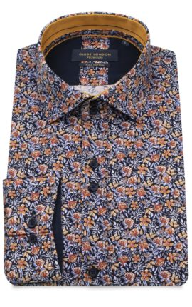 Orange Floral Print Guide London Shirt