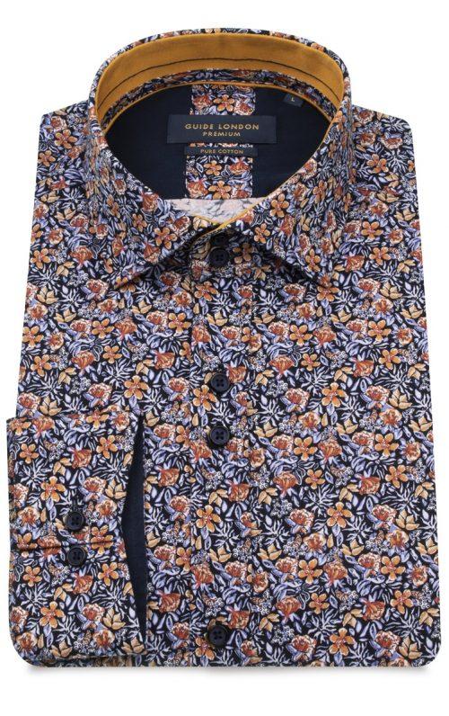 Orange Floral Print Guide London Shirt