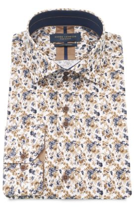 Guide London White Floral Print Shirt