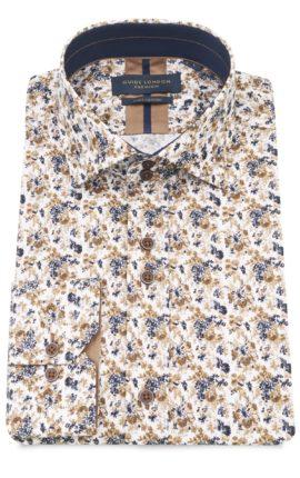 Guide London White Floral Print Shirt