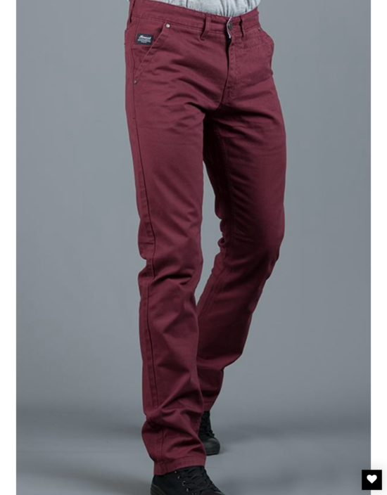 Mineral Burgundy Chinos