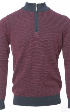 Pegasin Burgundy Half Zip Jumper