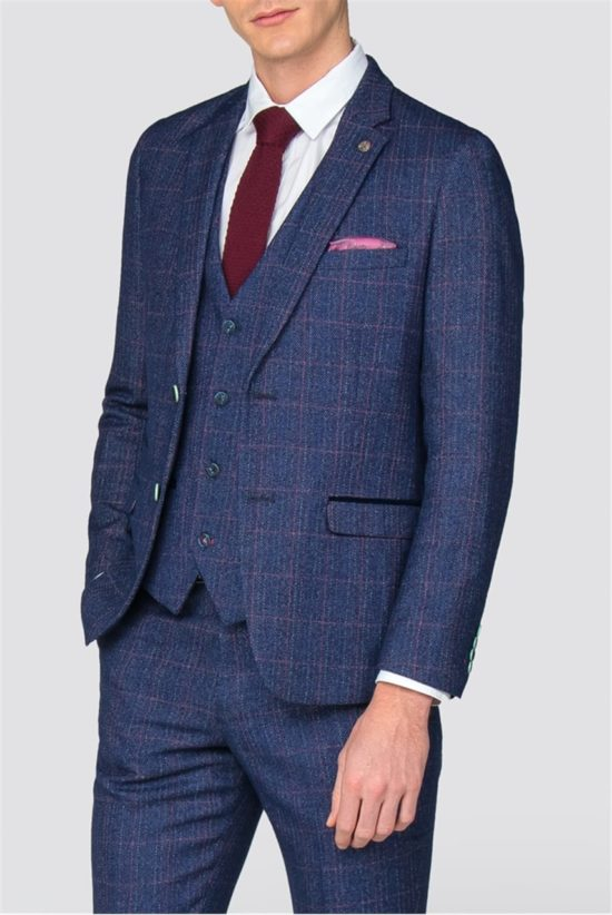Marc Darcy 3 Piece Suit Harry Indigo
