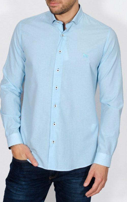 Yeates Turquoise Long Sleeved Shirt