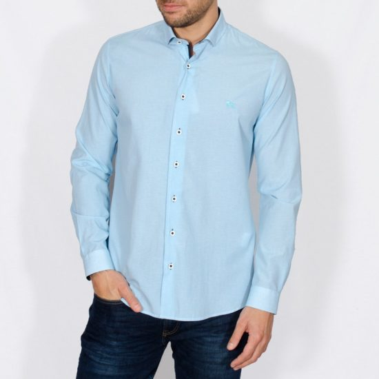 Yeates Turquoise Long Sleeved Shirt