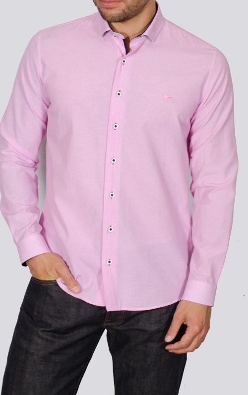 Yeates Pink Long Sleeved Shirt