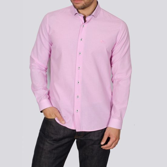 Yeates Pink Long Sleeved Shirt