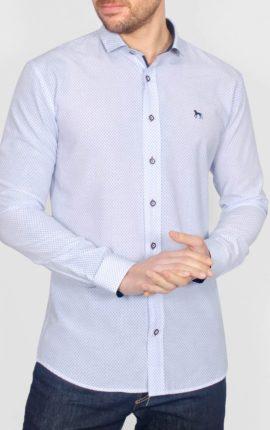 Gumbo White Patterned Long Sleeve Shirt