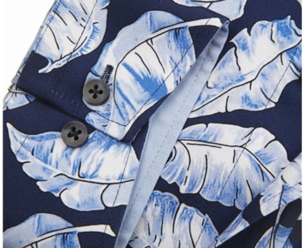 Guide London Navy Feather Print Shirt 2021