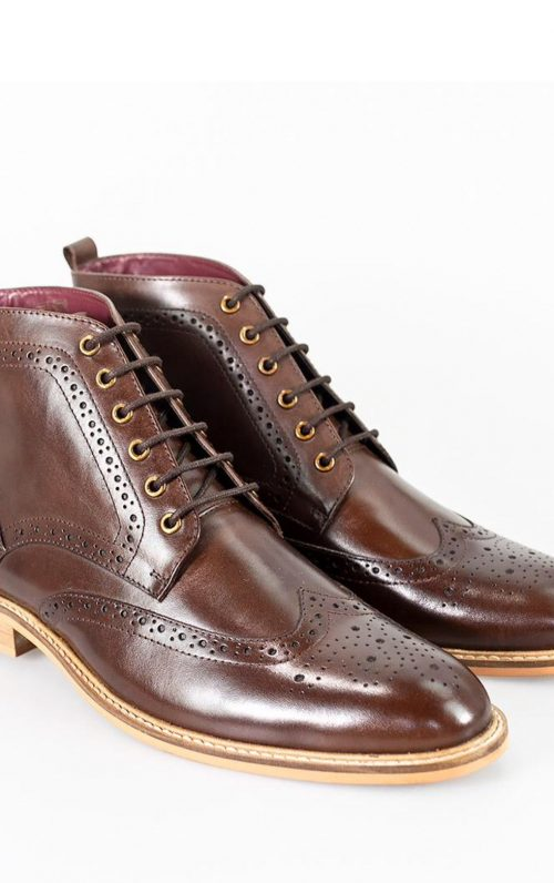 Cavani Holmes Brown Lace-Up Boots