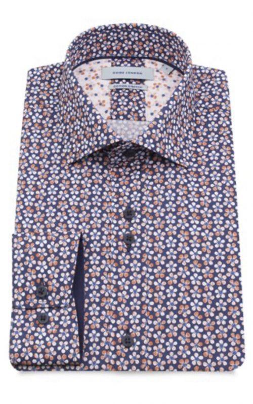Guide London Navy Floral Print Shirt