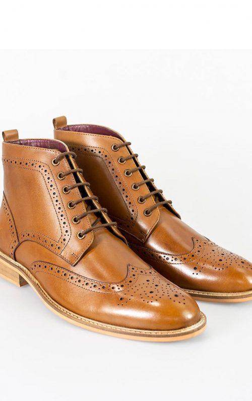 Cavani Holmes Tan Lace-Up Boots