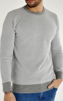 Montan Grey Crew Neck Jumper