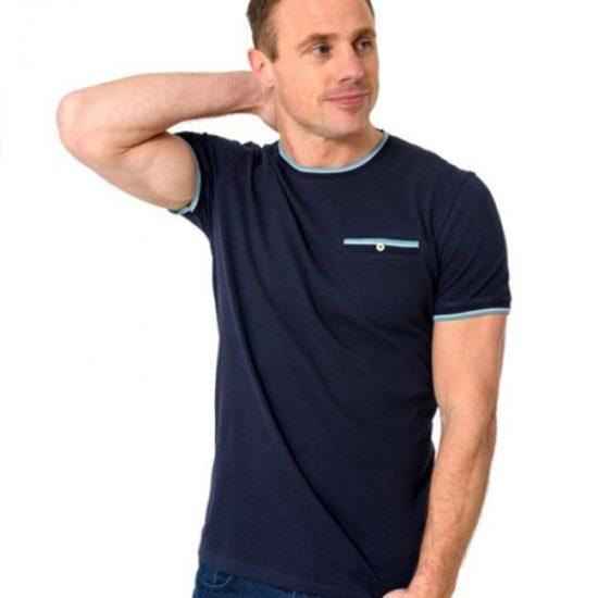 XV Kings Zig Navy Crew Neck T-Shirt