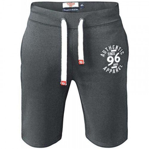 D555 Powell Charcoal Grey Fleece Shorts