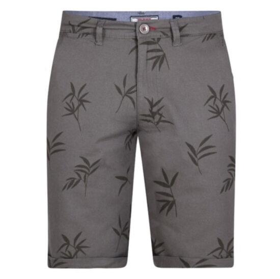 D555 Chapman Leaf Print Khaki Shorts