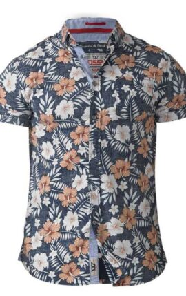D555 Huxley Hawaiian Short Sleeved Shirt