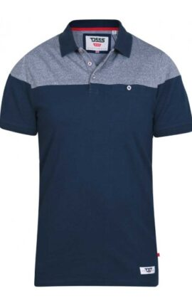 D555 Rigby Navy Grey Polo Shirt